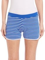 Moschino Stripes & Patch Jogger Shorts