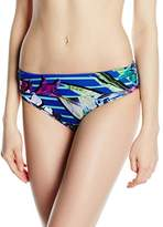 Moontide Women's Eden Ruched Front Briefs Floral Bikini Bottoms