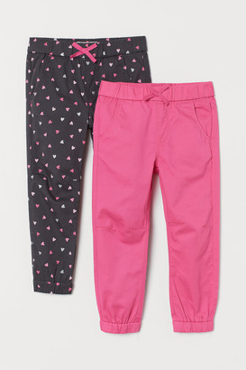 H&M 2-Pack Cotton Pull-On Trousers