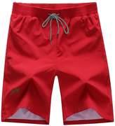 Deercon Men's Quick-Dry Swimwear Shorts Sports Beach Boardshorts(7 colors M-3)