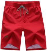 Deercon Men's Quick-Dry Swimwear Shorts Sports Beach Boardshorts(7 colors M-)