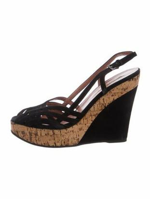 Alaia Suede Slingback Sandals Black