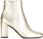 Saint Laurent block heel ankle boots - women - Leather - 38
