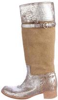 Miu Miu Metallic Leather Boots