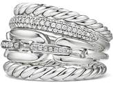 David Yurman Wellesley Four-Row Ring with Diamonds