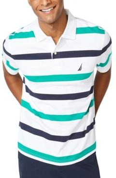 Nautica Men's Classic-Fit Interlock Stripe Polo Shirt
