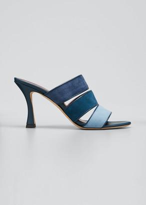 STAUD Sonny Colorblock Slide Sandals