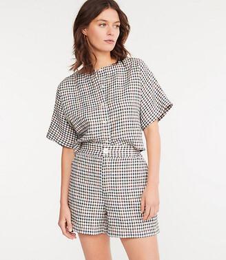 Lou & Grey Rainbow Gingham Linen Shorts