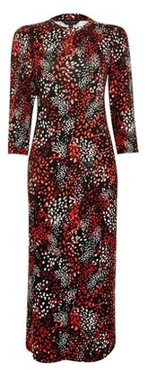Dorothy Perkins Womens Black And Red Bodycon Dress, Black