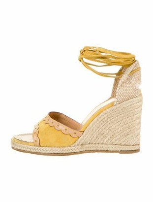 Louis Vuitton Suede Espadrilles Yellow
