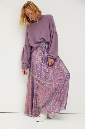 Free People Starry Night Sequin Maxi Skirt