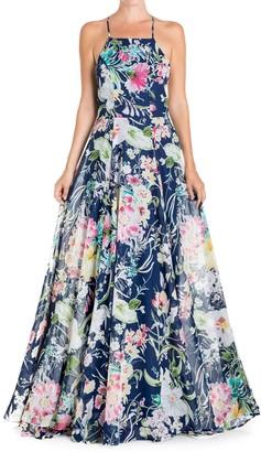 Meghan La Midnight Floral Maxi Dress