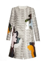 Mary Katrantzou A-line Framis-print jacquard coat