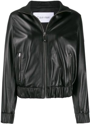 Calvin Klein High-Neck Cropped Jacket
