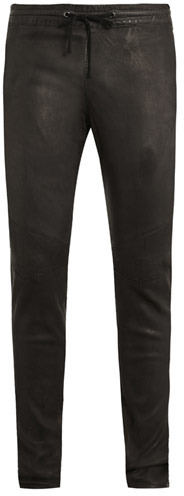 Balmain Leather tracksuit trousers