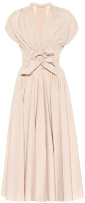 Alaia Cotton-poplin midi dress