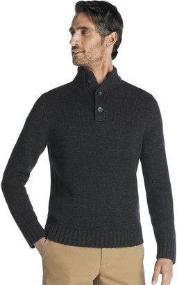 Izod Men's Classic-Fit Marled Button-Neck Sweater