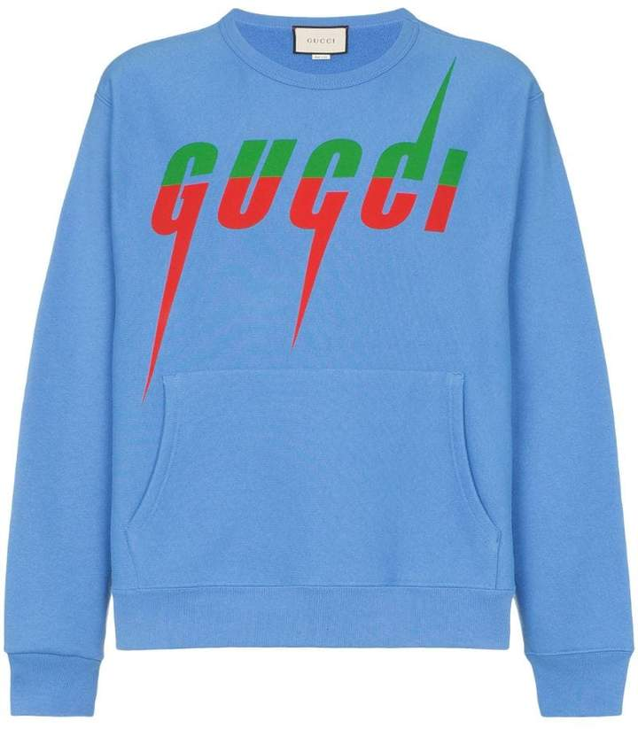 107b623a9 Gucci Blue Men's Sweatshirts - ShopStyle