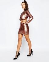 Missguided Metallic Mini Skirt