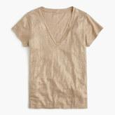 J.Crew New linen T-shirt in metallic