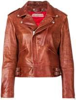 Golden Goose Deluxe Brand worn in biker jacket