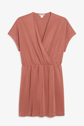 Monki Super-soft mini wrap dress