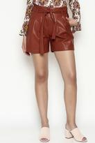 FRNCH Vegan Leather Shorts