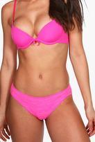 boohoo Rebecca Basic Marl Brazilian Brief pink
