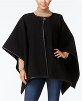 Calvin Klein Turnlock Piped Poncho