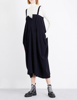 Y's Ys Asymmetric wool-blend dress