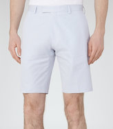 Reiss Reiss Montgomery - Twill Cotton Shorts In Blue