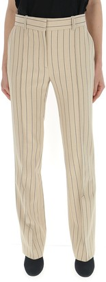 See by Chloe Pinstripe Straight Trousers