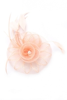 Quiz Peach Jewel Spiral Fascinator