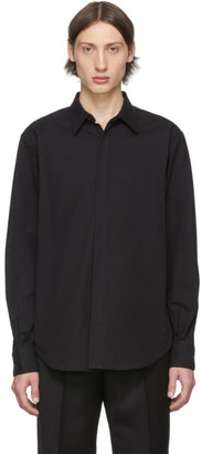 Cobra S.C. Black Compact Twill Detachable Collar Shirt