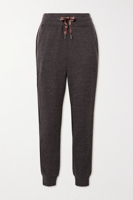 WE NORWEGIANS Tind Merino Wool Track Pants - Brown