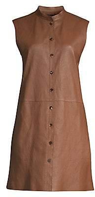 Lafayette 148 New York Women's Malva Lamb Leather Longline Vest