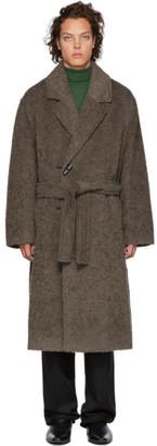 Lemaire Grey Furry Alpaca Oversized Coat