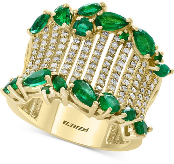 Effy Emerald (2-1/10 ct. t.w.) & Diamond (1/2 ct. t.w.) in 14k Gold