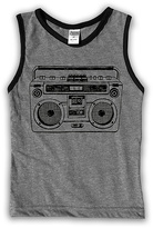 Urban Smalls Heather Gray & Black Boom Box Tank - Toddler & Boys