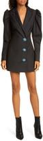 Rotate Carol Long Sleeve Wool Blend Blazer Minidress
