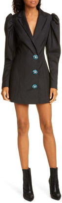 Rotate Carol Long Sleeve Wool Blend Blazer Minidress