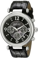 August Steiner Women's AS8032BK Crystal Mother-Of-Pearl Chronograph Strap Watch