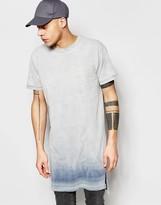 Cheap Monday T-Shirt Casualty Inverted Blue Slub Extra Longline