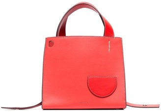 Danse Lente coral Margot leather top-handle tote