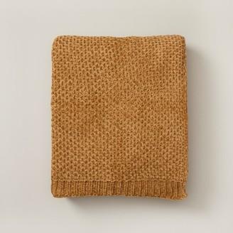 Oui Honeycomb Chenille Throw Goldenrod