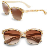 Dolce & Gabbana Gold Leaf 57mm Square Sunglasses