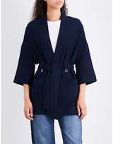 Whistles Kimono-sleeve crepe jacket