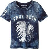 True Religion Native Headdress T-Shirt (Toddler/Kid) - Midnight - 5