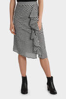Ruffle Gingham Skirt