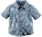 Carter's Printed Chambray Button-Front Shirt